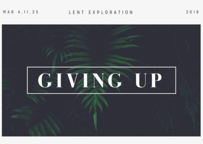 Giving Up: Holy Spirit by Ross Wright